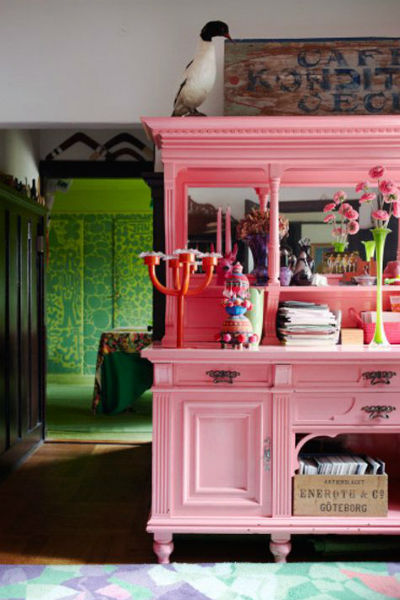 Inspirations d co repeindre un meuble vintage - Muebles de colores pintados ...